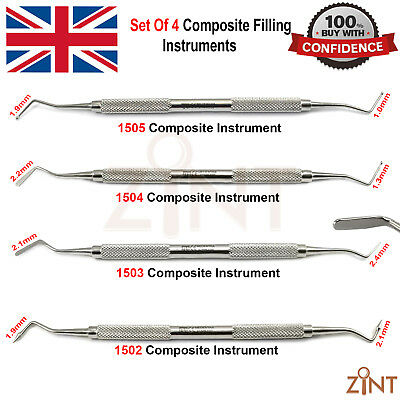 Set of 4 Dental Composite Instruments Anterior and Posterior Laboratory Tools CE