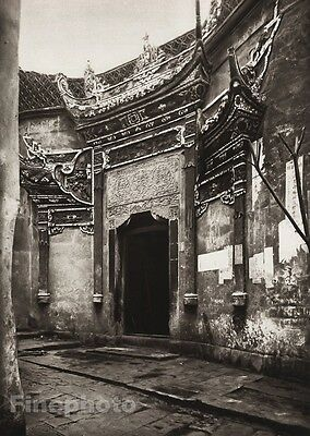 1906 Vintage CHINA CHUNGKING Door Alley Porcelain Architecture Art By BOERSCHMAN
