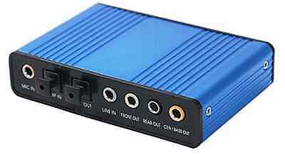 PC USB 6-Channel Surround Sound Converter W/ Digital Optical Audio Input Output