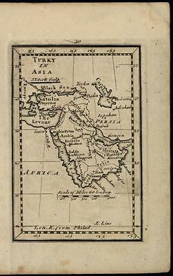 Arabia Turkey in Asia Ottoman Empire c.1798 rare antique American-made map
