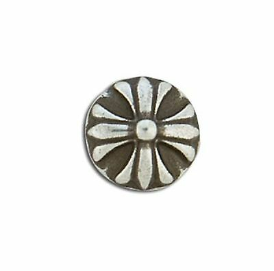 """Round Cross Concho Screwback 1/2"""" Antique Silver 7985-01 by Tandy Leather"""