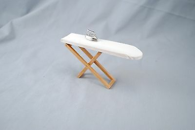 "Folding Ironing Board w/ Iron -  dollhouse miniature furniture 1/12"" scale D2834"