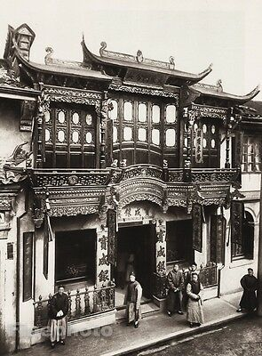 1906 Vintage Print CHINA SHANGHAI House Street Family Architecture By BOERSCHMAN