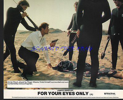 JAMES BOND FOR YOUR EYES ONLY ORIG BRITISH FOH PHOTO ROGER MOORE