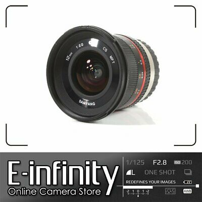 NEW Samyang 12mm f/2.0 NCS CS Lens f/2 F2 for Micro Four Thirds