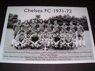 Chelsea Fc 1971-72 Peter Bonetti Peter Osgood Alan Hudson A4 Exclusive Print