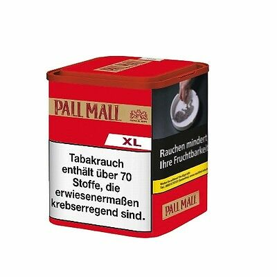 6 x Pall Mall Authentic Red ohne Aroma à 65 Gramm Zigarettentabak / Tabak