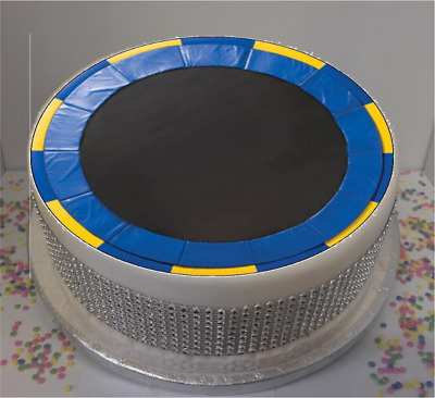 "Novelty Trampoline 8"" Edible Icing Cake Topper birthday"