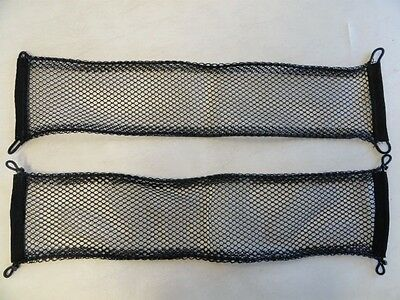 "Universal Black Cargo Net With Bungee Cord  27 1/2"" X 6""  Pair (2) Marine Boat"