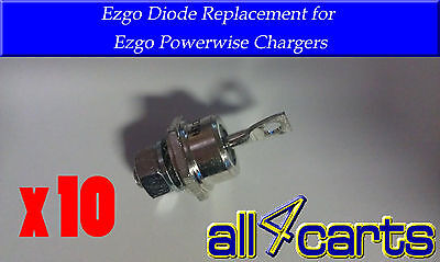 (10) EZGO Powerwise Totalcharge Charger Replacement Diode | Golf cart Heat sink