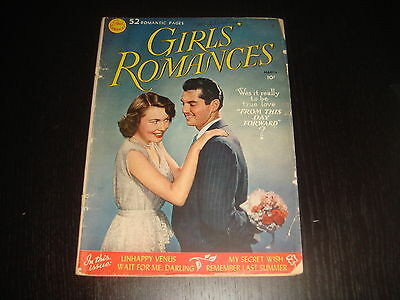 GIRLS' ROMANCES #1 Golden Age Young Love Romance Stories  DC Comics 1950 G+/VG-