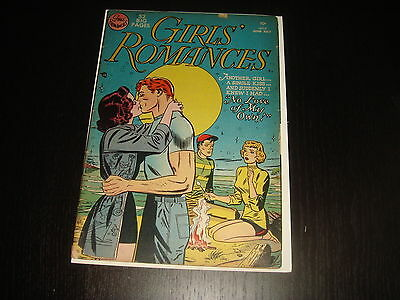 GIRLS' ROMANCES #9 Golden Age Young Love Stories  DC Comics 1951 VG