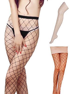 Hot Sexy Fence Fish Net Tights Pantyhose Hosiery Stockings Black & White & Red