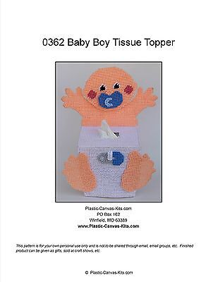 Boy Baby Tissue Topper- Plastic Canvas Pattern or Kit