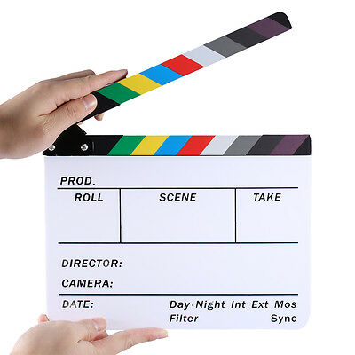 "Neewer Acrylic 10x8""/25x20cm Dry Erase Director's Film Clapboard w/Color Sticks"
