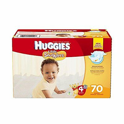 NEW HUGGIES Little Snugglers Diapers Super Pack  (Size 4)