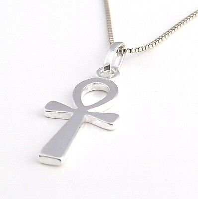 Solid 925 Sterling Silver Egyptian Ankh Cross Pendant with NO Chain P152