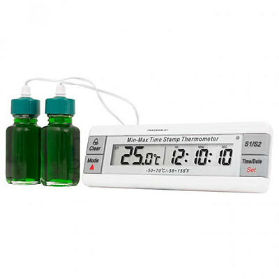 Dual Thermometer With Bottle Probes 1 ea