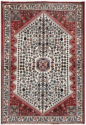 Rust 4' x 5' Abadeh Rug Hand Knotted Persian Rug