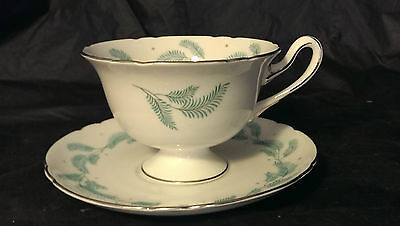 Immaculate Excellent Shelley Serenity 13791 Footed Cup & Saucer Set 8 Available