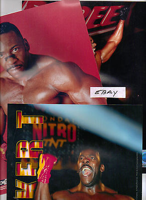 WRESTLING 8X10 ~ COLOR~LOT of 3 DIFF OFFICAL~ PHOTOS of ~BOOKER T~ HALL OF FAME