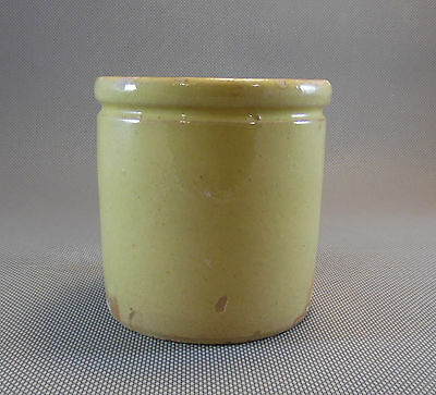 Ancien pot terre vernissée savoie confiture art pop déco vintage, french antique