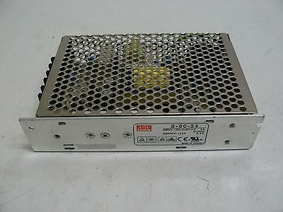 Mean Well S-60-24 Power Supply Input 100-240 Vac 2 A Output +24 V 2.5 Amp