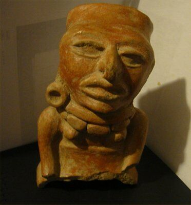"Pre Columbian Mayan Authentic 1,000+ Year Old Large 8"" Tall Late Classic Period"