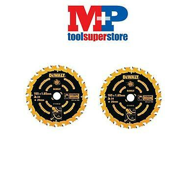 Dewalt Dt10300 Extreme Corded Circular Saw Blade 165Mm 24 Tooth **pack Of 2**