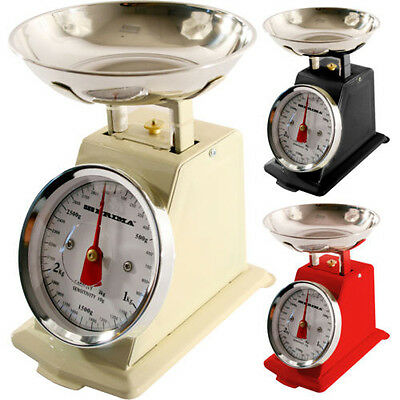 New 5Kg Traditional Weighing Kitchen Scale Bowl Retro Scales Mechanical Vintage