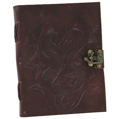 Double Dragon Leather Handmade Blank Journal Medieval Diary