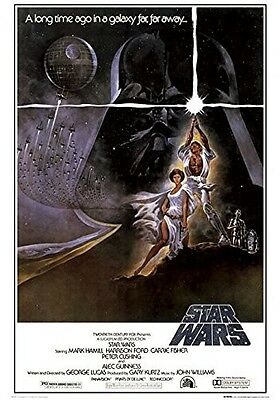 Star Wars Movie Poster 70's A New Hope Art Poster Print 24x36 inch Large