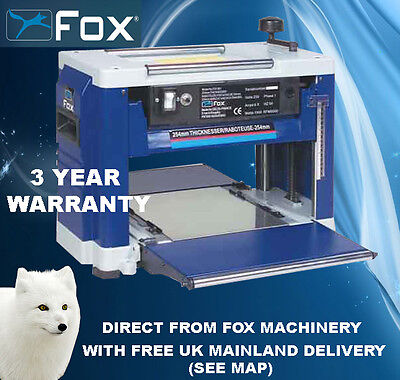 "Fox F22-561 10"" Portable Thicknesser  3 Year Warranty"