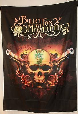 BULLET FOR MY VALENTINE BFMV Dual Pistols Cloth Poster Flag Fabric Tapestry-New!