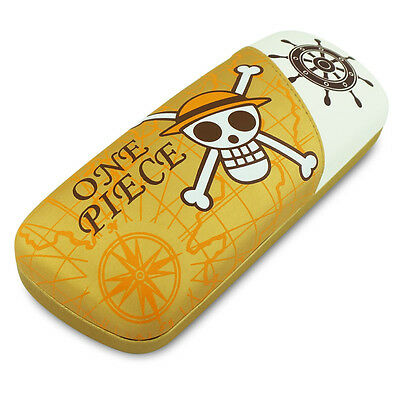 Mixed Colors PU Glasses case with Anime One Piece Monky D Luffy eyewear case