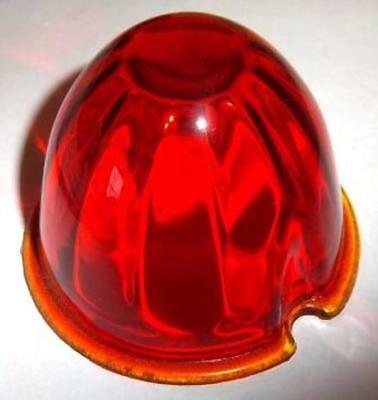 light lens dark amber glass watermelon style for Peterbilt cab with two screws