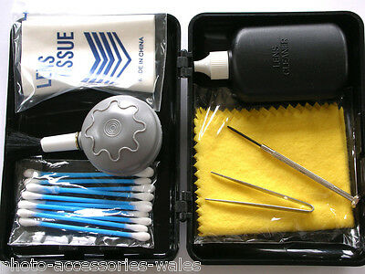 Camera And Lens Cleaning Kit Including Blower Brush