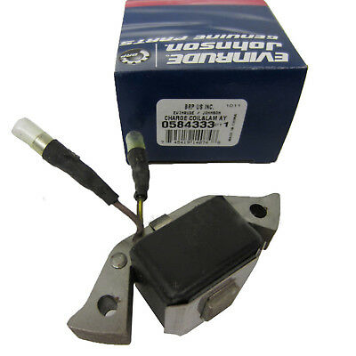 Johnson/Evinrude/OMC New OEM Charge Coil 0584333, 584333, 0583485, 583485
