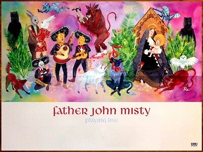 FATHER JOHN MISTY I Love You Honeybear 2015 Ltd Ed RARE Poster+FREE Indie Poster