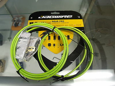 Jagwire Road Pro Complete Derailleur And Brake Cables Ergon Green  Kit