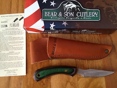 Bear & Son 242Cw Caper Knife Camo Wood Handle Made In Usa Box New