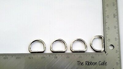 WELDED Metal d-rings 20mm, 4mm thick top quality!