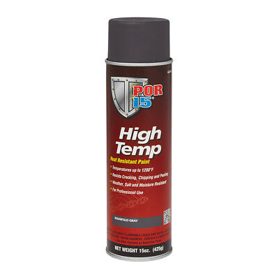 POR 15 44218 High Temp Aerosol Header Paint - 1200 Degree - Manifold Gray 15oz