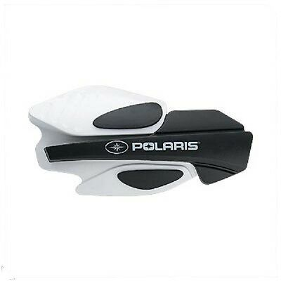 Polaris Handguards Snowmobile Wind Protection White/black + Powermadd Mounts