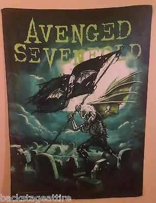 "AVENGED SEVENFOLD A7X CEMETARY 29""X43"" Cloth Fabric Poster Flag Tapestry-New!"