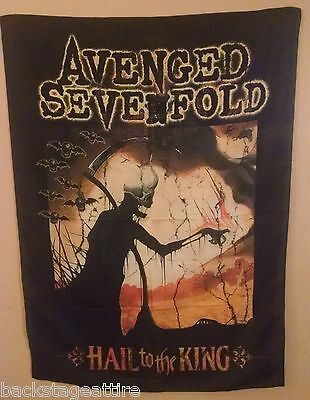 AVENGED SEVENFOLD A7X REAPER HAIL TO THE KING 29X43 Cloth Fabric Poster Flag-New
