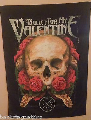 BULLET FOR MY VALENTINE ROSES/SERPENT/SKULL 29X43 Fabric Cloth Poster Flag-New