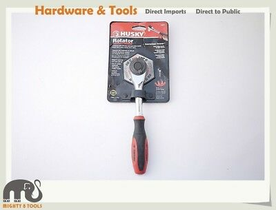 """Husky Taiwan 2-in-1 3/8"""" Dr. Ratchet Rotator Handle Twist Action for Tight Space"""