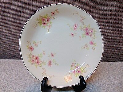 RADISSON W.S. George #36725 Pink Flowers Coupe Soup Bowl 7 3/4 inches