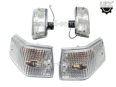 Vespa PX125 P200 Stella LML Rear And Front Indicator Blinkers Chrome New P1701